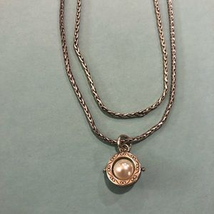 Brighton 2-Strand Silver Rope Necklace with Pearl